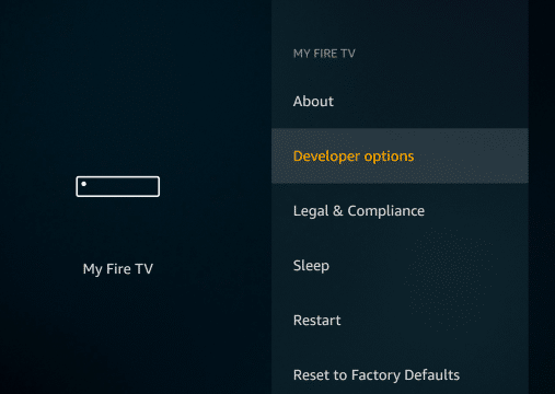 Turn on Developer option on Titanium TV