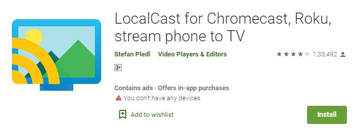 LocalCast - Titanium TV App