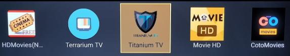Launch Titanium TV on Nvidia Shield